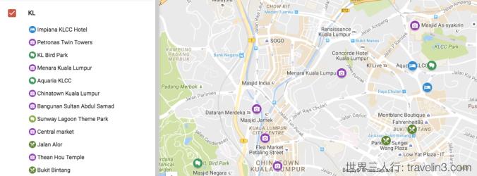 kuala lumpur - my map